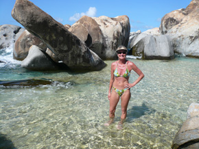 the unreal boulders of the baths, virgin gorda bvi