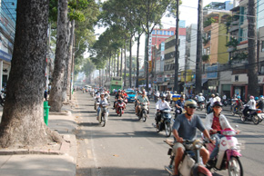 ho chi minh city streets and traffic