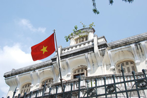colonial architecture in ho chi minh city, vietnam